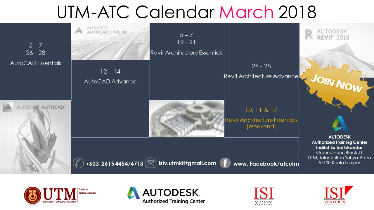 Utm isi institut sultan iskandar autocad revit training available register here 1betcityfo Image collections